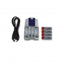 B-2700麥克風專用可充電電池+充電器